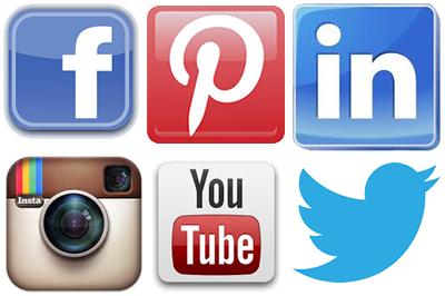 social media facebook pinterest instagram youtube twitter
